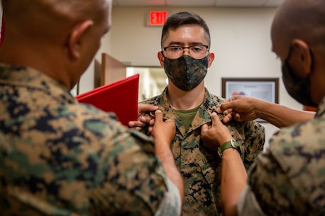 MARFORSOUTH congratulates the newly promoted Cpl Walter Corthell. Thank you for your hard work and dedication to the U.S. Marine Corps.