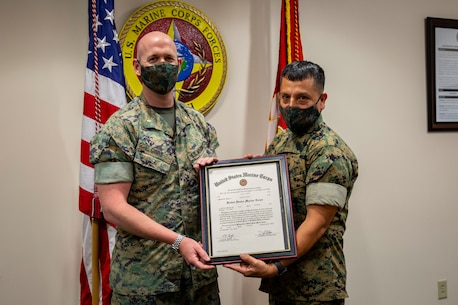 MARFORSOUTH congratulates the newly promoted MSgt Luis Castro. Thank you for your hard work and dedication to the U.S. Marine Corps.