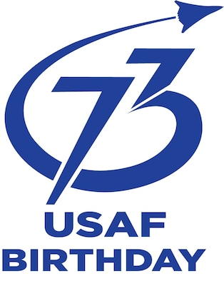 Official Air Force logo for the 73rd Birthday of the United States Air Force (Illustration by Secretary of the U.S. Air Force Public Affairs)