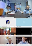 Royal Malaysian air force Maj. Gen. Mohd Shahada bin Ismail, Assistant Chief of Staff for Operation and Strategy Department at RMAF Headquarters, Kuala Lumpur (top middle) delivers his opening remarks during a virtual Airman-to-Airman Talks (A2AT) engagement September 14, 2020. This is the third iteration of A2AT between the two nations. Pacific Air Forces first began the A2AT program in 2012 and currently participates in bilateral air force talks with 13 nations.