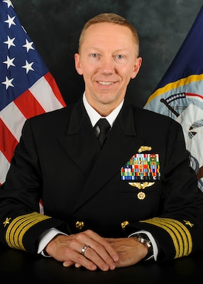 Official photo of Captain Eric R. Johnson, USN