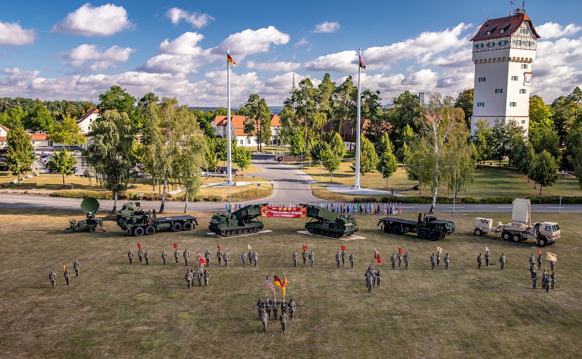 41st Field Artillery Brigade comes to fruition and changes command in the same day.