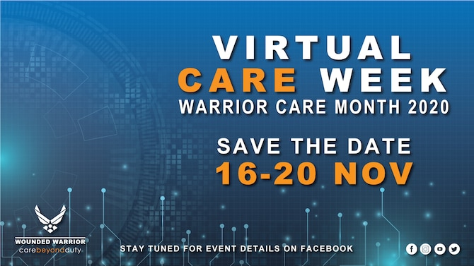 Graphic for the Virtual CARE Week in November, from the 16th-20th. Check your emails for the invite. (U.S. Air Force Graphic by Melissa Espinales)