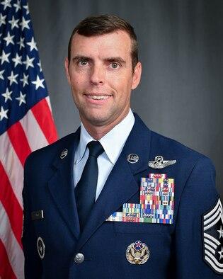 Official photo for Chief Master. Sgt. Michael S. Senigo, 301 FW Command Chief