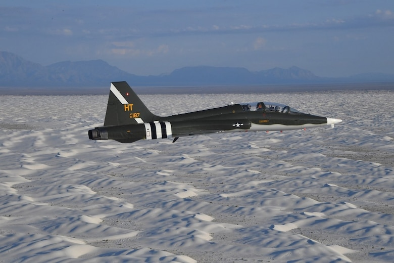 Kubernetes is being implemented on the instrumentation system of T-38 aircraft for a flight test by the Arnold Engineering Development Complex 586th Flight Test Squadron, Holloman Air Force Base, N.M. (U.S. Air Force photo)