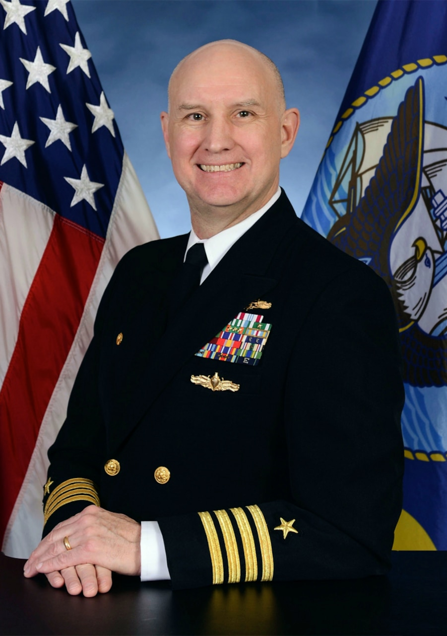 Official portrait of Capt. Joe Spears, the commanding officer of Cryptologic Warfare Group (CWG) 6 and Commander, Task Force (CTF) 1060.