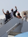 Vice President, the Honorable Mike Pence, arrives at Marine Corps Air Station Yuma, AZ, on Sept. 18, 2020.