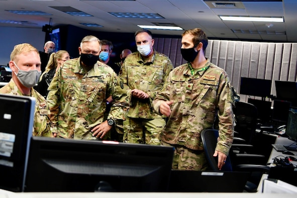 Washington National Guard TAG observes software demonstrations on Sept 3, 2020.