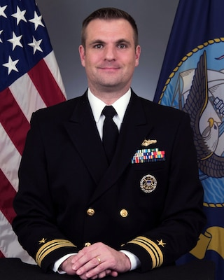 Lt. Cmdr. Adam P. Hudson Official Portrait