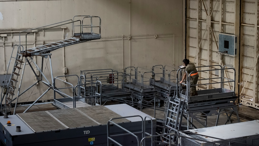 Airmen of the 18th Equipment Maintenance Squadron aerospace ground equipment flight work behind the scenes to ensure their inventory of equipment is ready for use on the flight line for maintenance operations and sortie support.