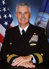 Official portrait of Cmdr. Joseph B. Harrison, the commanding officer of Cryptologic Warfare Activity (CWA) 66.
