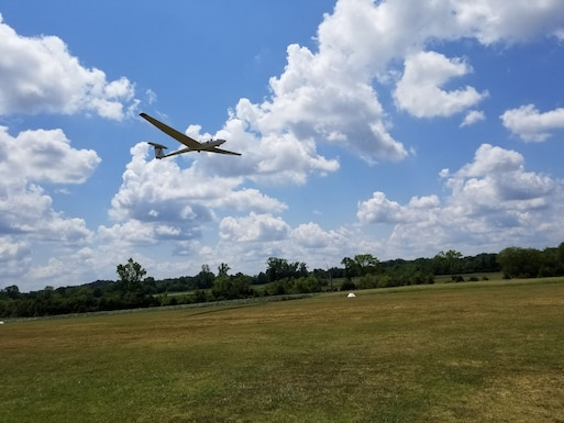 After completing a 10-week Fly to Learn course, a student takes flight in a glider with one of the Eagleville Soaring Club's glider pilots Aug. 15, 2020, in Eagleville, Tenn. Eleven students from Coffee County and West Middle schools participated in the program. (Courtesy photo)