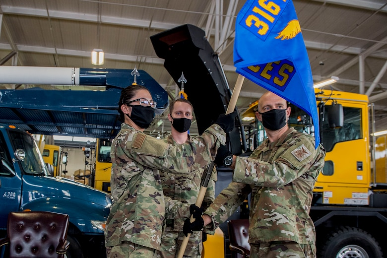316th CES  receives new commander