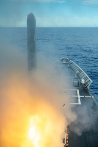 USS Antietam Conducts Tomahawk Live-fire Missile Shoot for Exercise Valiant Shield