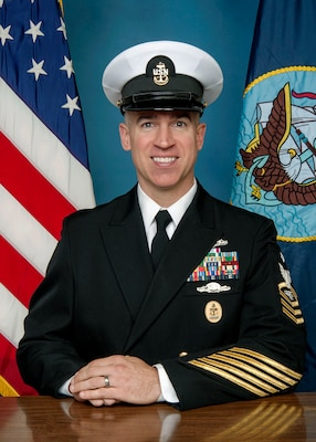 Official portrait Senior Chief Information Systems Technician Rodney A. Shinn, senior enlisted leader of Naval Computer and Telecommunications Area Master Station (NCTAMS) Pacific Detachment Puget Sound.