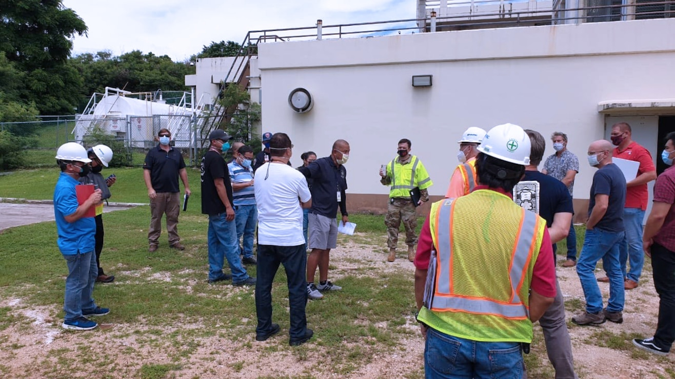 TAMUNING, GUAM (Sept. 19, 2020) - USACE led a virtual site walkthrough with contractor Hensel Phelps to discuss requirements for providing additional power capability for  rooms in Guam Memorial Hospital (GMH) to meet the emergent need for increased patient capacity and care capability in Guam.
