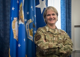 U.S. Air Force Maj. Gen. Dawne L. Deskins, the deputy director of the Air National Guard, poses for a photo at the Pentagon in Arlington, Va., Sept. 11, 2020. Deskins is making Air National Guard history by becoming the first non-pilot and first female to serve as DDANG. (U.S. Air National Guard photo by Tech. Sgt. Morgan R. Lipinski)
