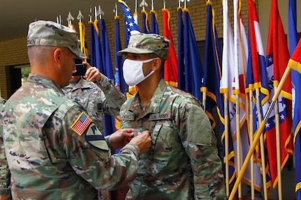Two Fort Sill basic combat trainees receive 'battlefield promotions'