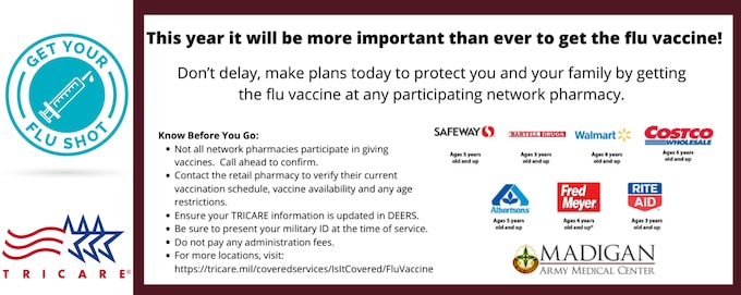 While COVID-19 may be top of mind right now, we are also in the midst of flu season. Luckily, TRICARE covers the flu vaccine.