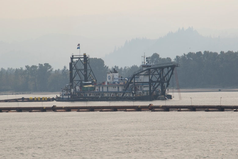 The U.S. Army Corps of Engineers completed dredged material placement at Pancake Point on Puget Island in Washington, Sept. 12, 2020. The project provided beach nourishment to an approximately 3000-foot stretch of shoreline on the Washington side of the Columbia River.