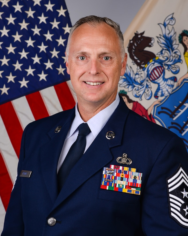 Official Photo of Chief Master Sgt. William C. Perkins.