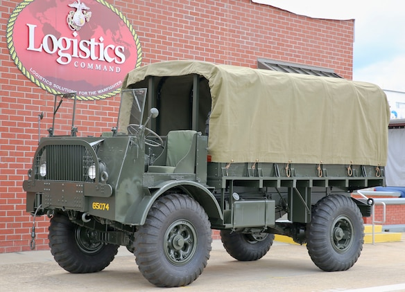 The most recent historic vehicle restoration project undertaken by Production Plant Albany was a World War II era truck that was brought back to its former glory largely with the help of visual aids and 3-D printing. (U.S. Marine Corps photo by Jennifer Parks)