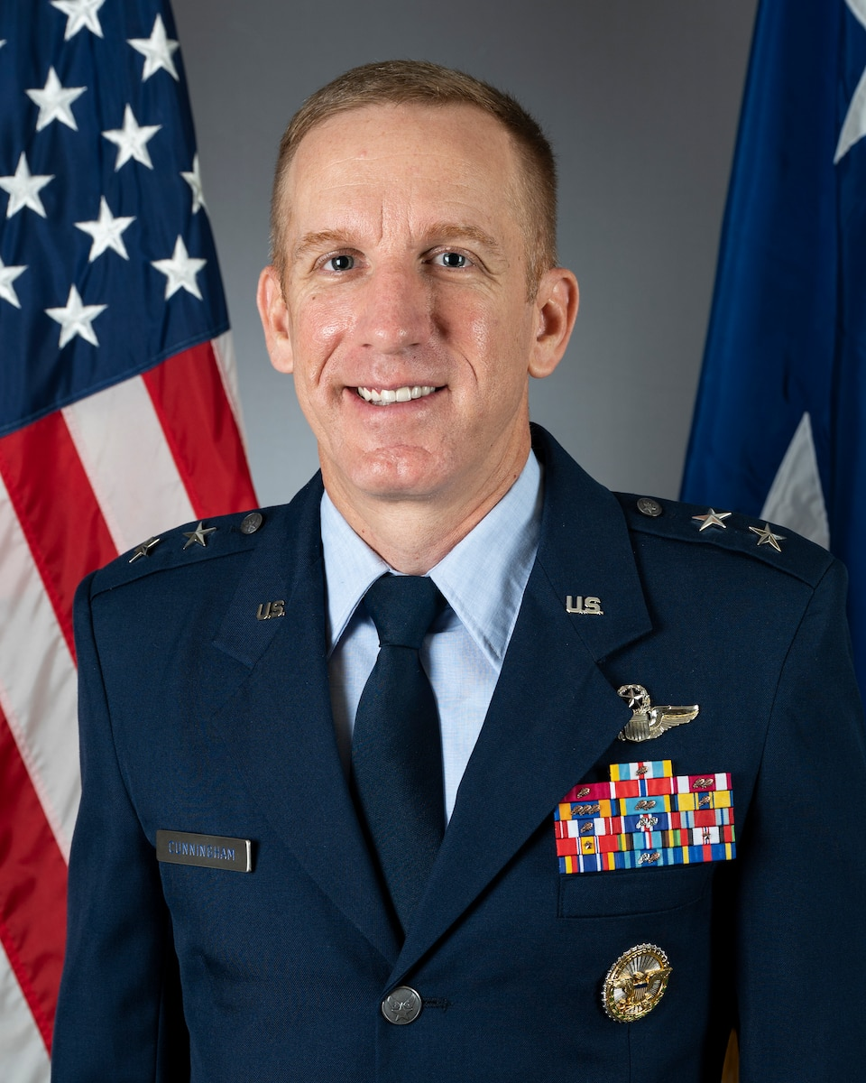 This is the official photo of Maj. Gen. Case A. Cunningham.