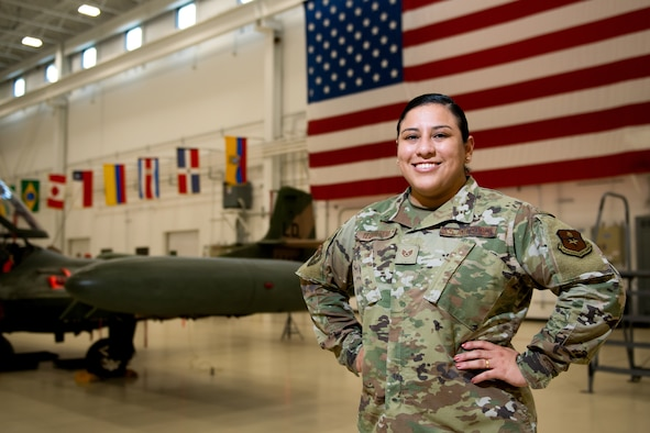 Staff Sgt. Soleine Izquierdo, international student manager at the Inter-American Air Forces Academy on Joint Base San Antonio-Lackland, knew joining the military would make her parents proud.