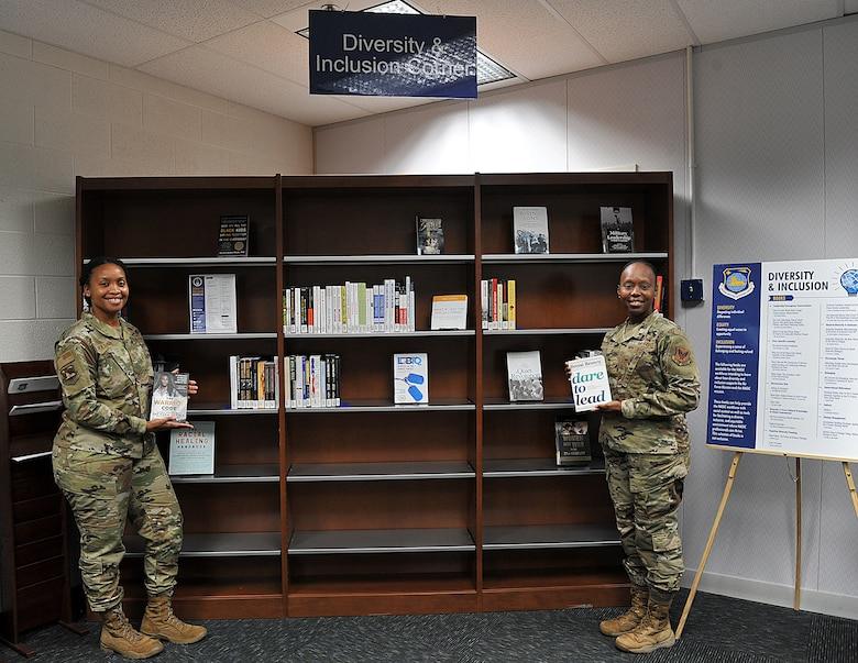 Members of the National Air and Space Intelligence Space Center Library created a Diversity and Inclusion Corner which features a variety of books intended to educate and inform personnel about diversity and inclusion and how it supports the Air Force mission. The D&I corner features a series of books that follows the Department of Air Force Diversity and Inclusion Resources list. The library is adding more books and are open to any book suggestions.