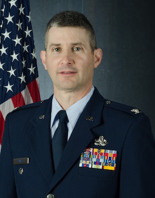 Official portrait of Col. Todd Swass, 157th Air Refuling Wing vice-commander, Pease Air National Guard Base, N.H., March 5, 2020. (U.S. Air National Guard photo by Tech. Sgt. Aaron Vezeau)