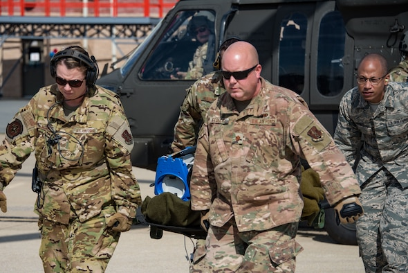 142nd Aeromedical Evacuation Squadron and Delaware National Guard aviation perform joint exercise