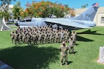 Members of the Iowa National Guard's 132d Wing in San Juan, Puerto Rico, at the end  of their Aug. 14-28, 2020, mission to help the Puerto Rico Air National Guard transition from an airlift wing to a contingency response and combat communications wing.