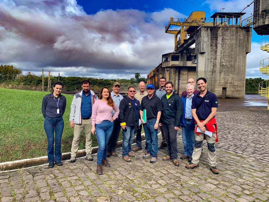 Inland Navigation Design Center team meets with the Brazil Transportation Departments to assess critical inland navigation infrastructure across the country.