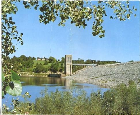 Coralville Dam and Lake located in Coralville, Iowa.