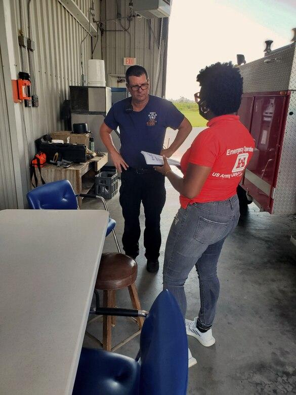 LGL meets with Lebleu fire department chief