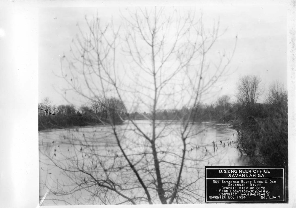 View of the site before improvements, 1934.
