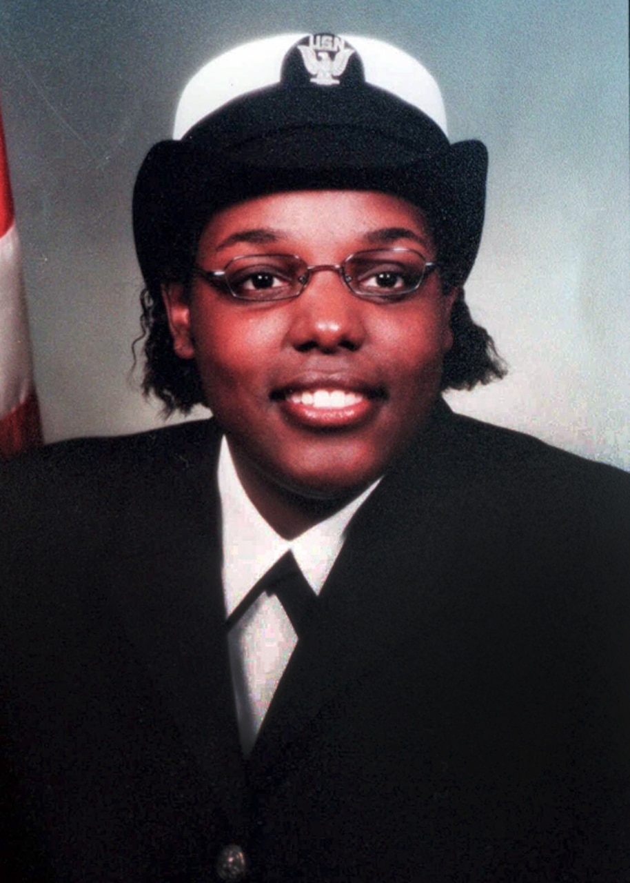Portrait of Mess Management Specialist Seaman Lakeina M. Francis.