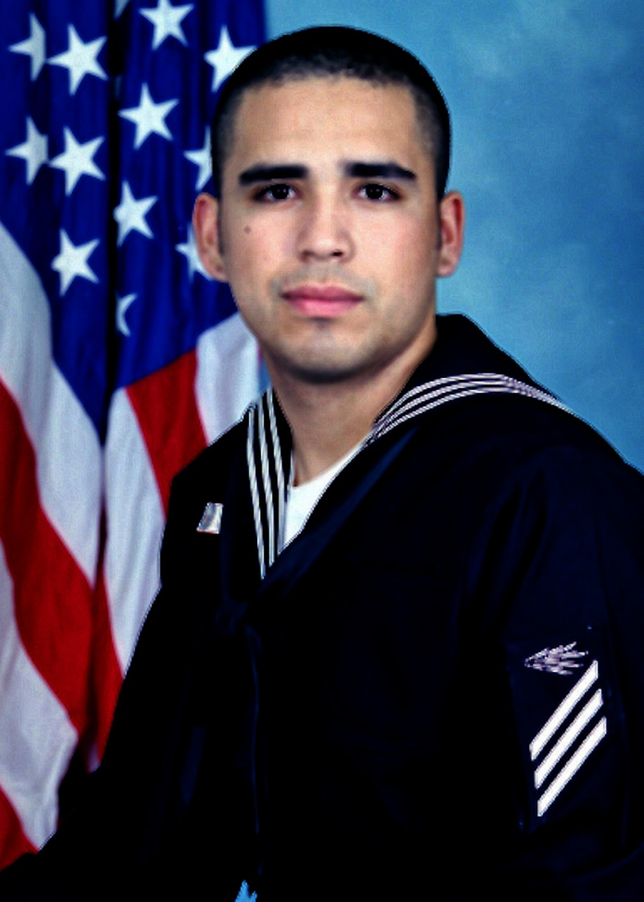 Portrait of Information Systems Technician Seaman Timothy L. Gauna.
