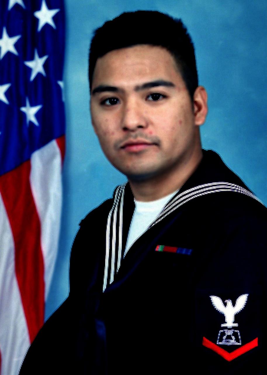 Portrait of Mess Management Specialist 3rd Class Ronchester M. Santiago