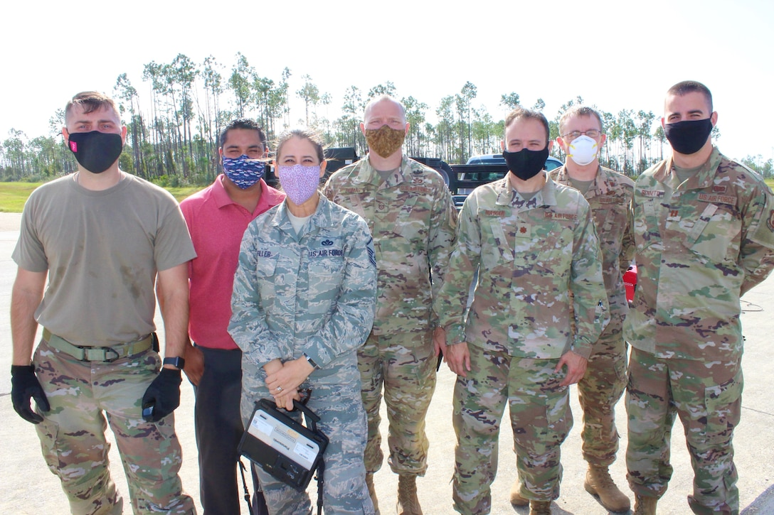 Group photo of APE and AFIT personnel at Tyndall AFB, Florida.