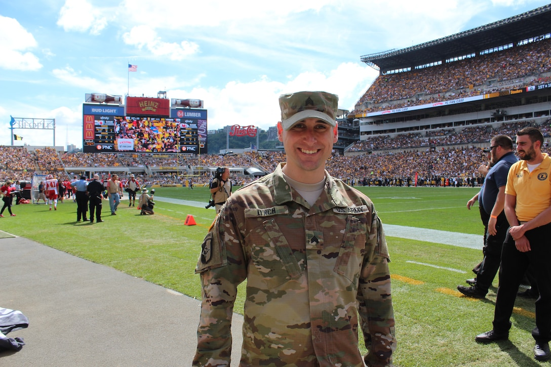 Lynch has served nearly 10 years in the Army Reserve and now advises other junior Soldiers to get busy learning about the advantages of being in the Army Reserve.
