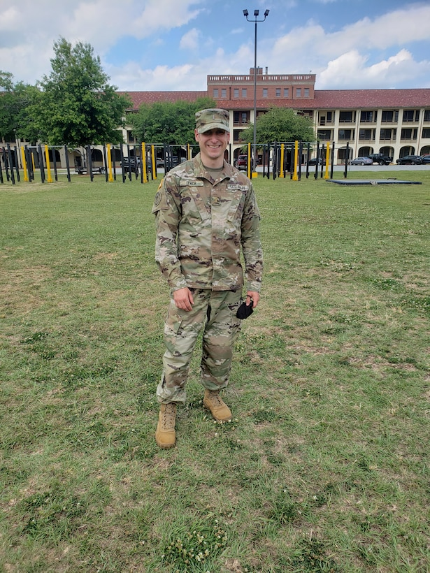 Lynch is serving in the 316th ESC as a mobilization HR officer after recently completing nearly three months of OCS training at Ft. Benning, Ga. this year.