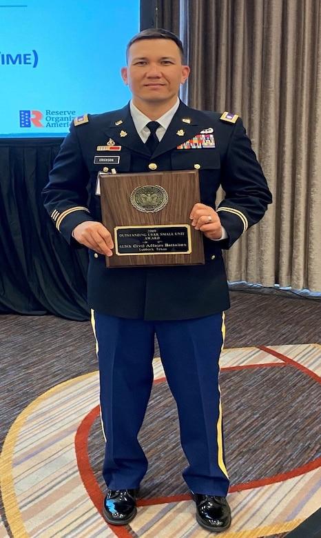 413th Civil Affairs Battalion selection as 2020 ROA U.S. Army Reserve Small Unit Award