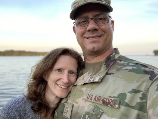 Master Sgt. Jamie Sparks and his wife, Angela