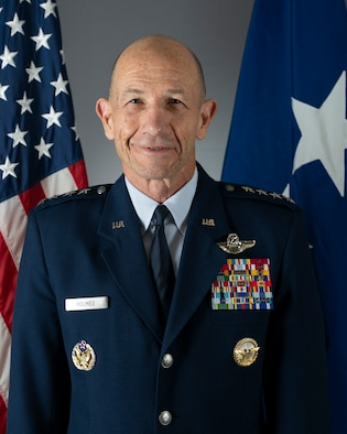 "This is the official portrait of Gen. James M. ""Mike"" Holmes."