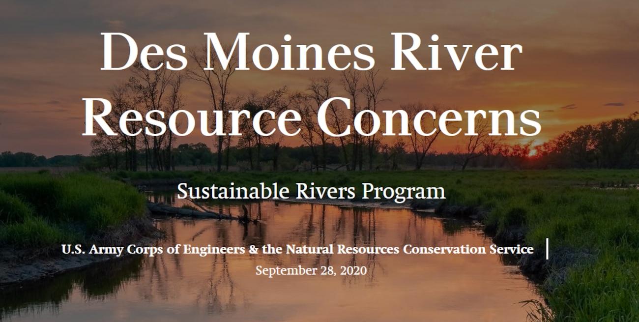 Des Moines River Resource Concerns story map