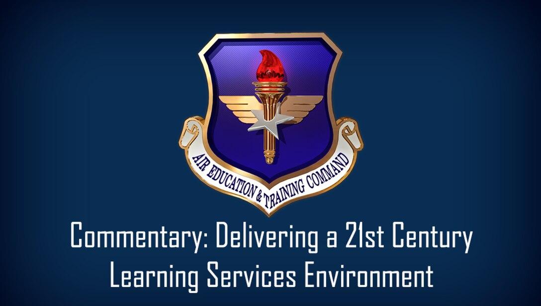 aetc logo on blue background