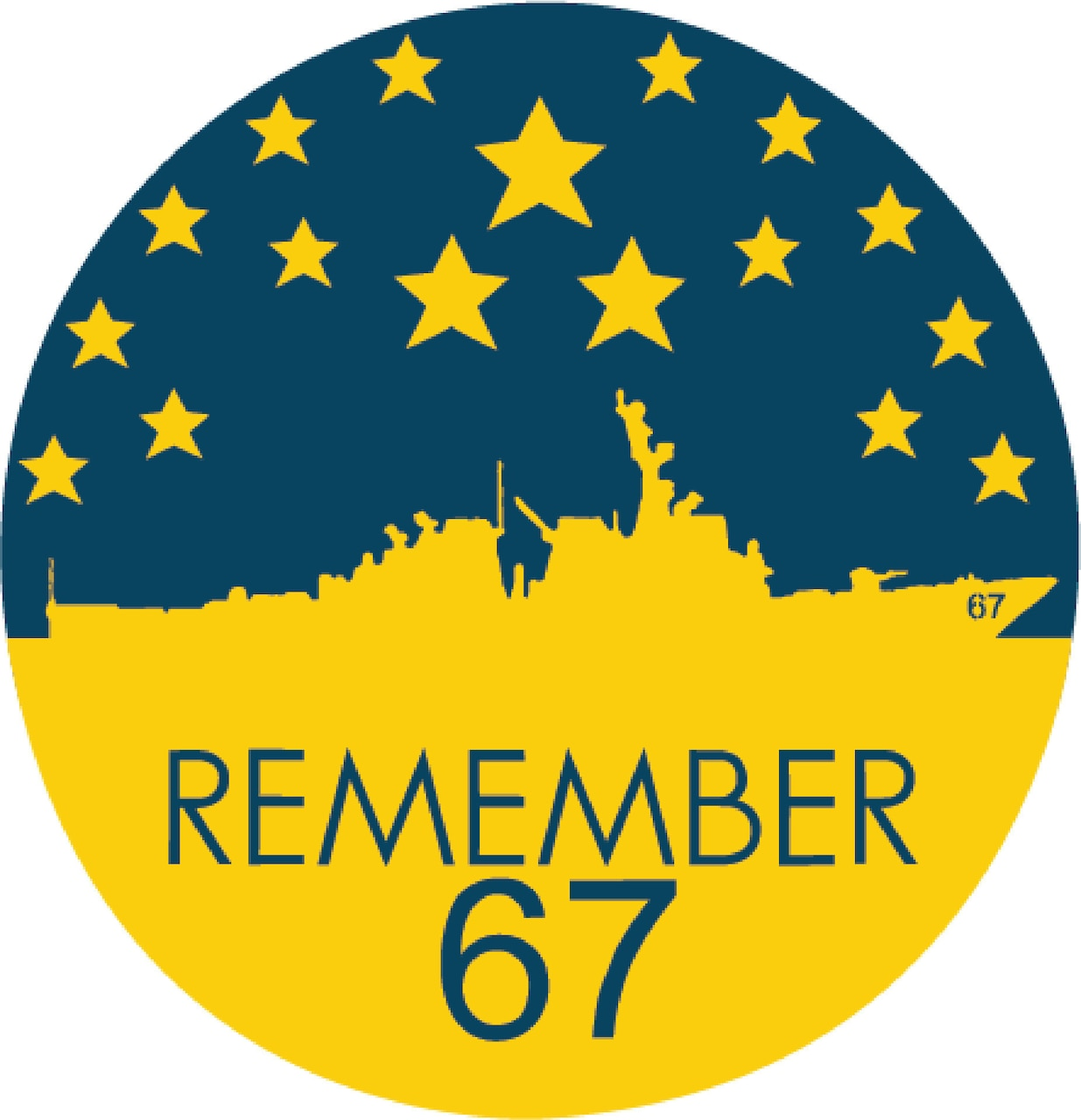 The official logo for 20th anniversary of the Oct. 12, 2000, terrorist attack on Arleigh Burke-class guided-missile destroyer USS Cole (DDG 67), where 17 Sailors were killed and 37 injured while the ship refueled in Yemen.