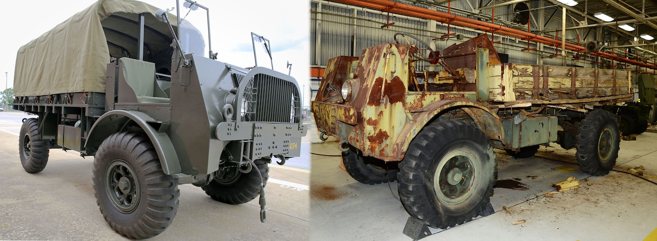 Marine Depot Maintenance Command restores World War II vehicle