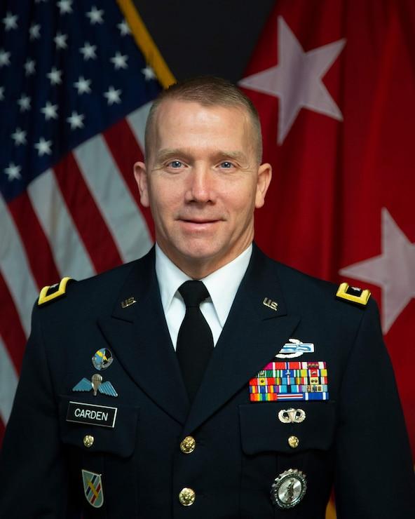 Official photo of Maj. Gen. Thomas Carden